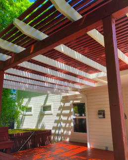 beautiful deck and awning refinishing ideas