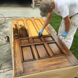 glazing a front door from old to new
