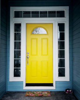Gambol gold front door yellow door