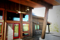 Restoring and staining cabins
